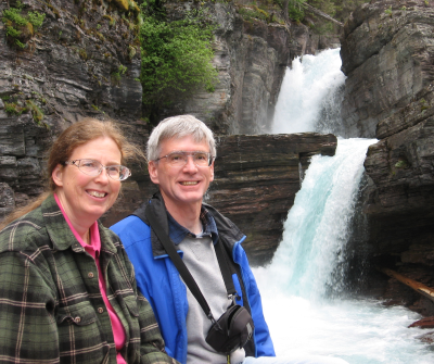 Ken and Joni at waterfall