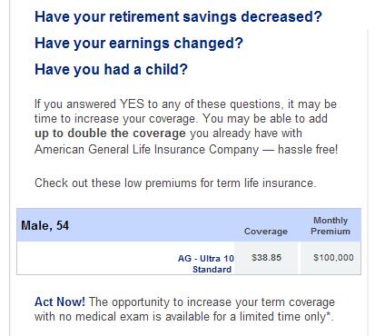 Life insurance ad
