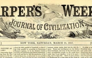 Newspaper from 1857